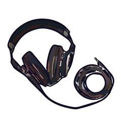 full size monitor headphones vector image