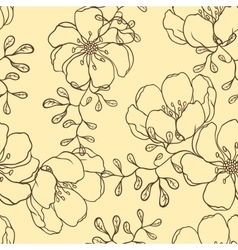 hand drawn flowers vector image vector image