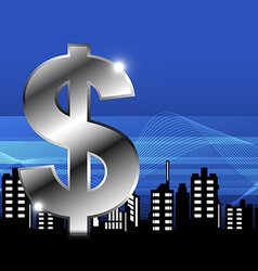 money with city vector image vector image