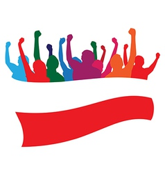 Poland fans vector image vector image