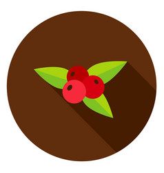 rowanberry circle icon vector image vector image