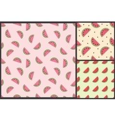 watermelon summer pattern vector image vector image