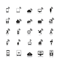 Wireless Icons Hotspot vector image vector image