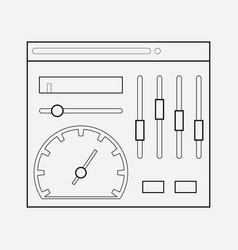 admin panel icon line element vector image