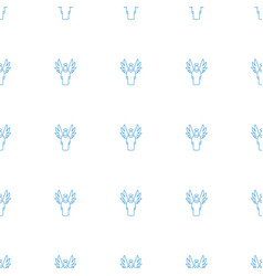 Angel icon pattern seamless white background vector