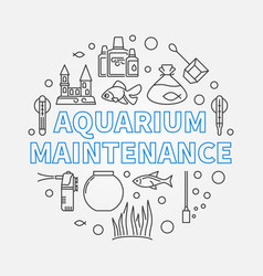 Aquarium maintenance round outline vector