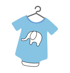 baby outfit with elephant vector image vector image