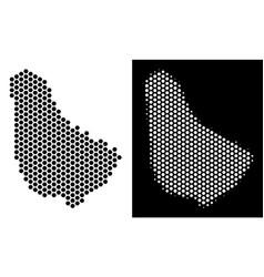 Barbados map hexagonal abstraction vector