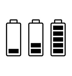 Battery load charge status symbols set vector