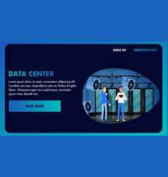 big data center banner datacenter vector image