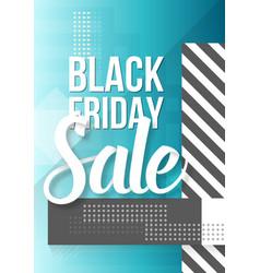 Black friday sale lettering modern paper vector