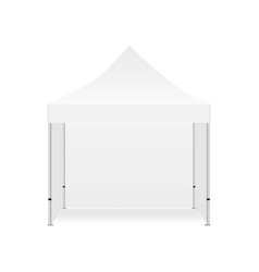 Blank outdoor promotional tent mockup vector