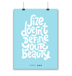 Body positive quotes vector