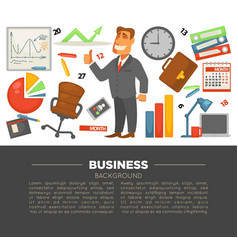 business and office supplies businessman in suit vector image