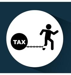 Business financial burden taxes icon vector