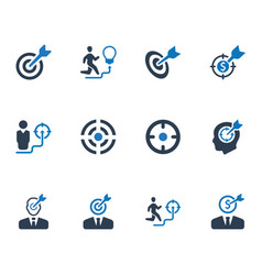 Business target icons vector
