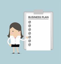 businesswoman show a business plan vector image