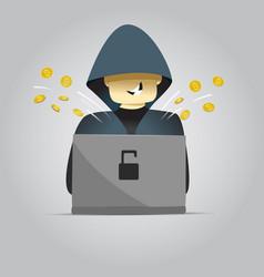 Cartoon hacker vector