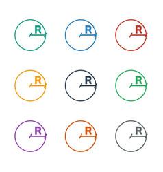 Circle icon white background vector