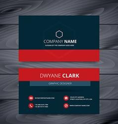 clean dark modern business card template design vector image