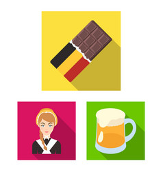 Country belgium flat icons in set collection for vector