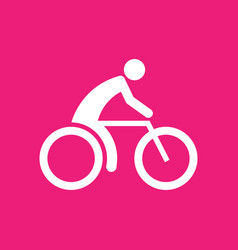 cycling sport figure symbol graphic vector image