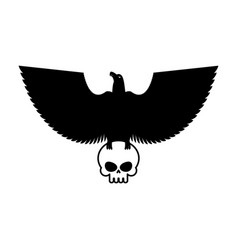 eagle and skull template for emblem hawk logo vector image