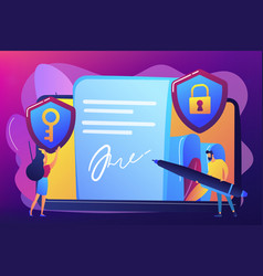 electronic signature concept vector image