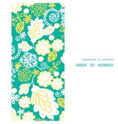 Emerald flowerals vertical frame seamless vector