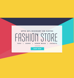 Fashion sale voucher coupon and discount banner vector