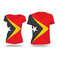 Flag shirt design of Timor-Leste vector image
