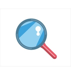Flat loupe icon search zoom or look optic vector