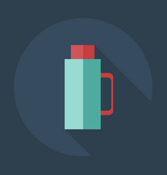 Flat modern design with shadow icons thermos vector