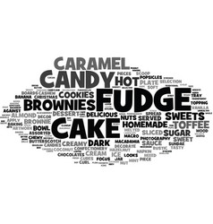 Fudge word cloud concept vector