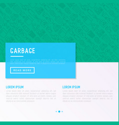 Garbage concept with thin line icons vector