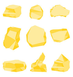 golden stones set vector image