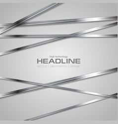 grey abstract technology metallic stripes vector image