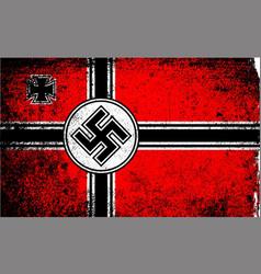 Grunge style nazi flag vector