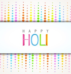 Happy holi design vector