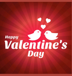 happy valentines day card with pattern background vector image
