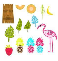 hawaii aloha clip art set vector image