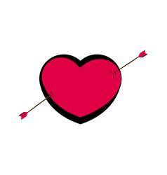 heart shape with an arrow valentine day vector image