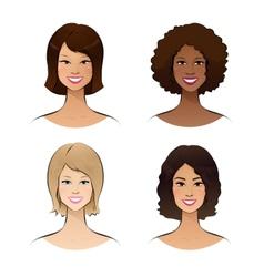 Human race women vector