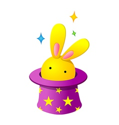 Icon rabbit in the hat vector