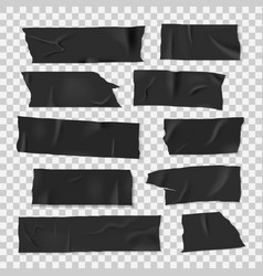 insulating adhesive sticky black tape realistic vector image
