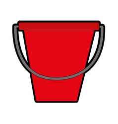 isolated sandbucket design vector image
