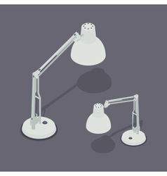 Isometric desk lamps vector image