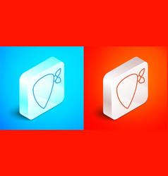 Isometric line cowboy bandana icon isolated on vector
