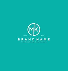 Letter mk logo design vector