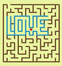 Love labyrinth game vector